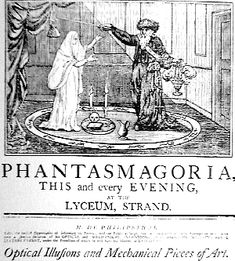 Although still half a century from the inception of the moving picture, the Regency did have its own visual amusement: the Phantasmagoria. People gathered in parlors and drawing rooms with only a f...