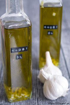 Knoblauchöl selbstgemacht Rezept Geschenk aus der Küche