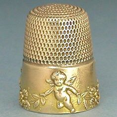 Antique 14 KT Gold Cupid Garlands Thimble by Simons Bros Circa 1900s | eBay