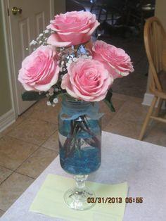 Bloomed Roses in Mason Jar!!!
