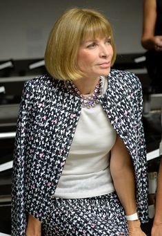 Anna Wintour - MBFW: Front Row at Calvin Klein Collection