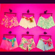 Lily Pulitzer shorts,  love the scalloped bottoms!!! :)