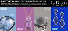 "Pantone's #spring2014 Fashion Color Report blends ""soft pastels with vivid bright lights."" Doves by Doron Paloma has you covered for these colors and more this Spring!"