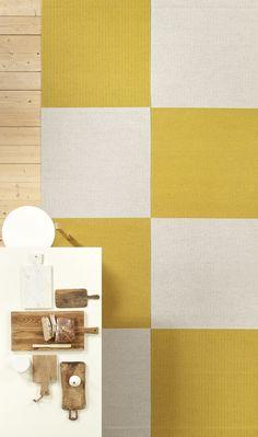 Woodnotes, the natural beauty of spun paper yarn Textured Carpet, Textiles, Scandinavian Design, Natural Beauty, Furniture Design, Quilts, Cool Stuff, Yellow, Paper