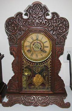 Antique Waterbury Oak Kitchen Parlor Key Wind Mantel Alarm Clock Nice | eBay Mantel Clocks, Old Clocks, Antique Clocks, Classic Clocks, Clock Shop, Old Watches, Time Clock, Alarm Clock, Mid-century Modern