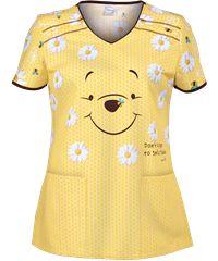 Cherokee Tooniforms Smile Today Print Scrub Top Style #  CK678PHT