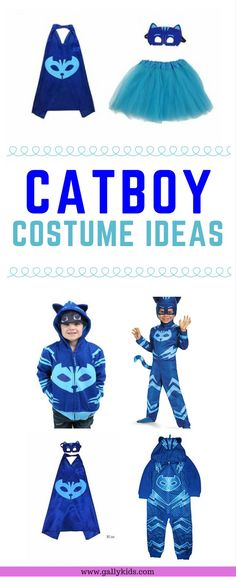 20 Super Cute Blue Catboy Costume For Halloween: Inspired By PJ Masks halloween Pj Masks Costume, Hot Halloween Costumes, Masquerade Costumes, Costume Ideas, Halloween 2019, Halloween Stuff, Costume Makeup, Halloween Halloween, Vintage Halloween