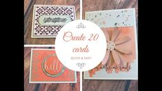 Memories & More Delightfully Detailed Quick & Easy Cards - YouTube