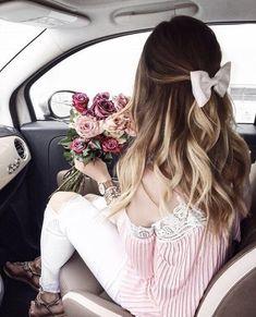 Mode Kawaii, Pinterest Hair, Gorgeous Hair, Stylish Girl, Belle Photo, Girly Girl, Hair Looks, Cute Hairstyles, Hair Inspiration