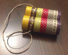Prismáticos con washi tape y cartón
