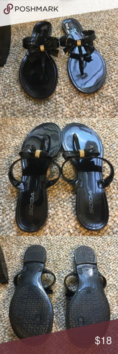 20%⬇Soda Black bow w/rhinestones sandals Soda Black bow w/rhinestones sandals- super cute goes with everything!!! Must have for spring & summer❤❤ Soda Shoes Sandals