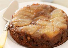 Free caramel upside down pear
