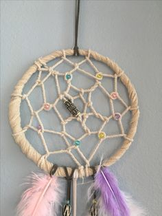 Close up detail of Sarah's dream catcher! Just beautiful! She made it all from scratch