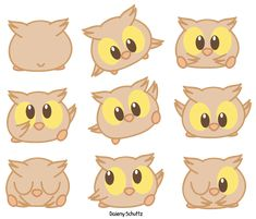Chibi Owl by Daieny.deviantart.com on @DeviantArt