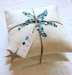DIY - Coastal Envelope pillows with thumbprint designs