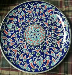 Ottoman, China Painting, Ceramic Design, Ceramic Plates, Islamic Art, Mosaic, Mandala, Pottery, Vase