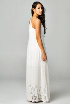 This pretty white maxi dress is your answer to the hot summer sun! In a 6e762fa632a58