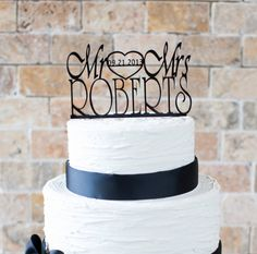 Wedding Cake Topper 6x3.5 item number 10047 by VVDesignsShop2