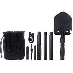 Iunio Military Portable Folding Shovel 35 inch Length and Pickax with Tactical Waist Pack 11in1 Army Surplus Multitool for Camping Hiking Backpacking Trench Entrenching Tool Car Emergency etc -- Details can be found by clicking on the image. This is an Amazon Affiliate links.
