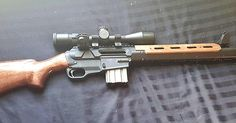 DIY Wooden stock on an Ares SCR rifle