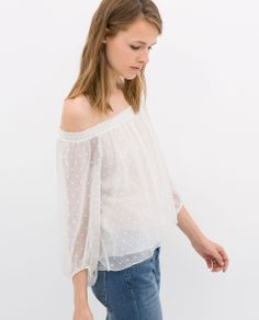 ZARA OFF-SHOULDER BLOUSE Ref. 7521/061