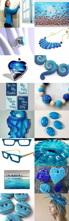 Blue Turquoise by Kirsten on Etsy--Pinned with TreasuryPin.com