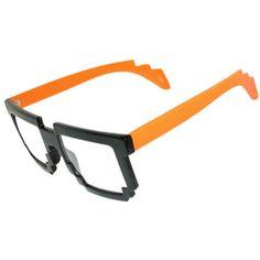8-bit Halloween! Pixelated Nerd Geek Glasses! Do the Robot!