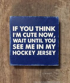 Vintage Hockey Sign Sports Team Wall Art Hockey Boy by bonnielecat