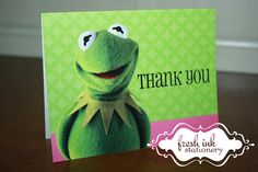 Kermit the Frog Folded Thank You Card