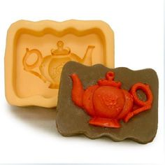 Teapot Soap Mold Flexible Mold Silicone Mold Soap by diycakemold Soap Molds, Silicone Molds, Homemade Body Butter, Homemade Soaps, Candle Making Business, Soy Candle Making, Candlemaking, Candle Molds, Chocolate Molds