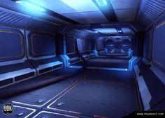 DeviantArt: More Like Sci-Fi Corridor Futuristic Environment by Jacob-3D
