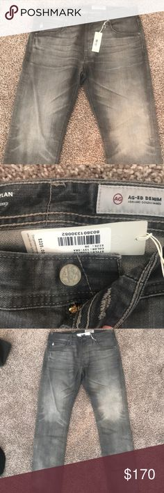 Men's NWT Grey jeans size 36 Brand new men's size 36 x 34 jeans from AG Jeans! 98% COTTON, 2% ELASTANE. Medium grey color. Original price paid $225. Solid product that will last, but also trendy with the color. AG Jeans Jeans Slim