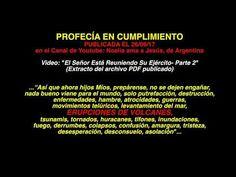 "Profecía en Cumplimiento ""ERUPCIONES DE VOLCANES""- Hna Noelia, Argentina - YouTube Videos, Music, Volcanoes, Argentina, Musica, Musik, Muziek, Music Activities, Songs"