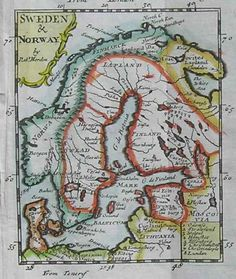 SWEDEN & NORWAY || Michael Jennings Antique Maps and Prints