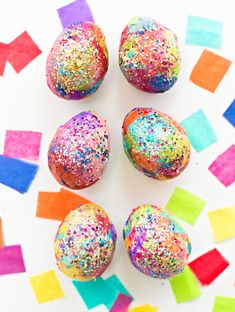 hello, Wonderful - SPARKLY DIY GLITTER AND TISSUE PAPER EASTER EGGS