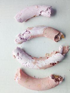 Bio Synthetics by Laura Olson - experiment from jesmonite, alginate / peanut shells