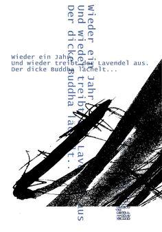 Lavendel - haiku and print by mila blau