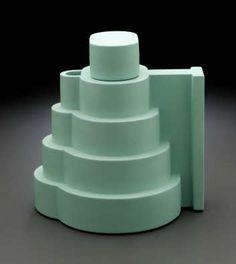 "Ettore Sottsass Lapislazzuli Teapot From the series ""Indian Memory"". From the Italian Memphis design movement. Ceramic Teapots, Ceramic Pottery, Ceramic Art, Ecole Design, Cafetiere, Memphis Design, Design Movements, Inside Design, Ceramic Design"