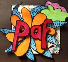 Gemaakt door leerling Kids Room Art, Art For Kids, Pop Art, Famous Artists For Kids, Comic Style, Middle School Art, High School, 7th Grade Art, Sculpture Lessons