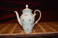 Bavaria Seltmann Weiden Theresia Teapot Floral Flowers W. Germany