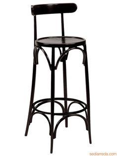 SE10037 | Wooden stool in Vienna style