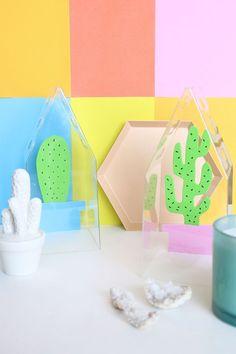 DIY Faux Cacti Terrariums