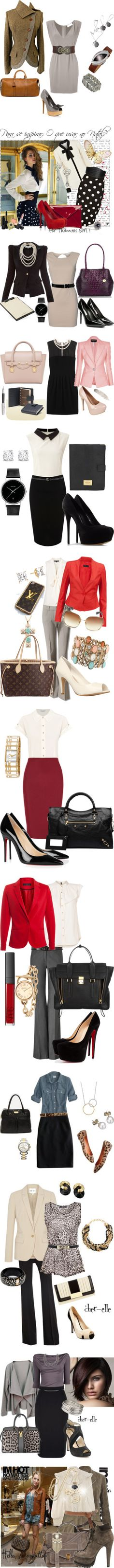 """""""Outfits para ir a trabajar IV"""" by guisella-infantes ❤ liked on Polyvore"""