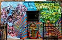 Beautiful mural by Rahman Statik and NERD off Milwaukee Ave. in Wicker Park in Chicago, the suburb to the south.