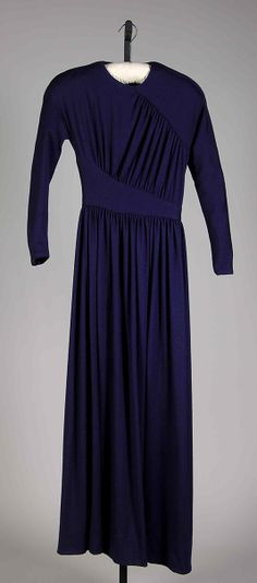 Evening Dress c.a. 1983,  Medium: wool