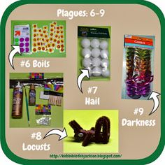 Today's lesson continues the 10 plagues. We studied the first 5 last week, and will review Moses and add the 6-9 plagues. We will finish ...