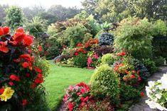 Английский пейзажный стиль в оформлении сада