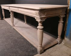 French Oak Drapers Table Read More:- Fabulous long 19th C French bleached oak drapers table. 1870