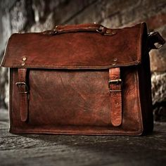 50684e7a63a4 Rustic Leather Satchel - perfect for carrying your notebook computer or  tablet device. It has