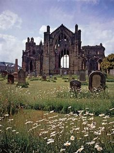 Melrose Abbey, Scotland - Cistercian Monks Order - Founded 1136/7 by David I of Scotland